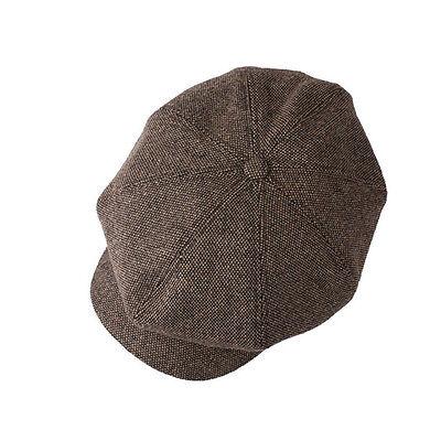 Unisex Mens Tweed Slub Bakerboy Flat Cap Newsboy Cabbie Gatsby Driver Hats