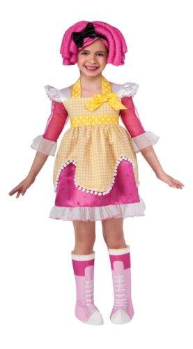 Lalaloopsy Deluxe Crumbs Sugar Cookie Child Costume Pink//Yellow Rubies