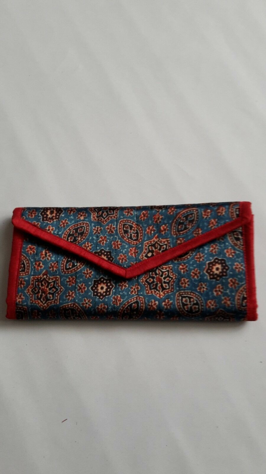 ladies ethnic Indian handcrafted multicoloured printed envelope purse wallet bag