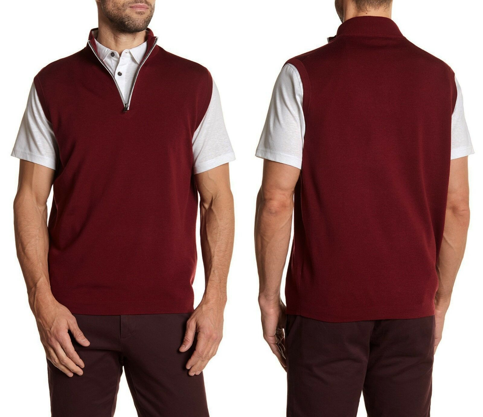 PETER MILLAR E4 Warmth 1/4 zip Lovell Wool Blend Vest Sz.XXL  NWT 175