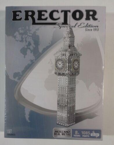 Meccano Erector Big Ben Special Edition Building Set Real Metal Tools Included