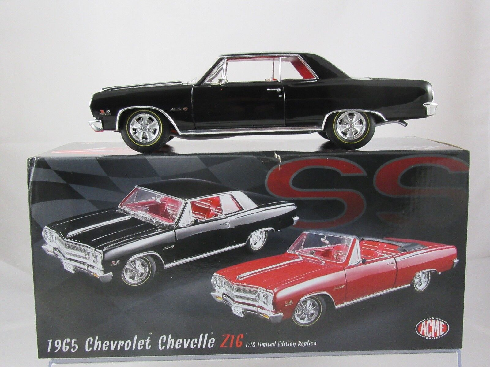 Acme 1965 Chevrolet Chevelle Z16 nero Hardsuperiore A1805301