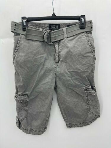 Buckle Black BKE Mens Size 27 Gray Wash Cargo Shor