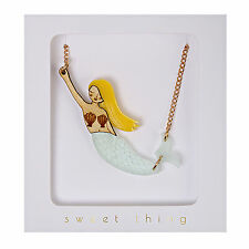 Mermaid Necklace Lovely Quirky Kitsch Jewellery Gift Boxed Meri Mermaids
