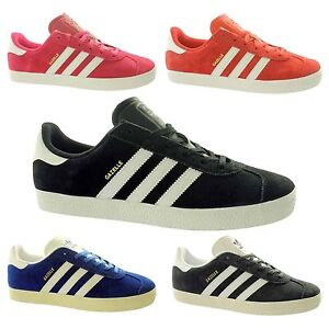 super popular 6e389 7250d Image is loading adidas-Gazelle-Junior-Trainers-Originals-UK-4-5-