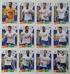 2019-20-PANINI-EPL-Soccer-Cards-Tottenham-Team-Set-12-cards-inc-shiny