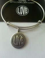 Alex And Ani Open Love Charm Bangle/bracelet Box New/tags Retired Russian Silver