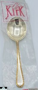 """Winslow by Kirk Sterling Silver Cream Soup Spoon 6/"""" New"""