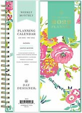 New Listingblue Sky 2022 Day Designer Weekly Amp Monthly Planner 5 X 8 Peyton White New