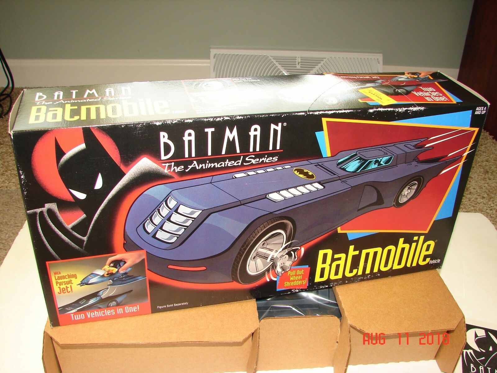 BATMAN Animated Series  BATMOBILE  MINT IN BOX NEW Kenner 1992 Rare Find