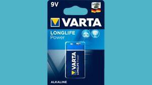 2 X Batterien Varta Longlife Power Highenergy 9v 9 Volt E-block 6lr61 Neu