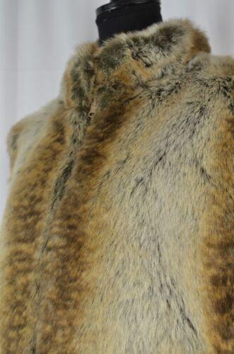 Fur Casual Giacca Full Reversible Faux Vest Zip Women's Størrelse Large Ny 8tqTw