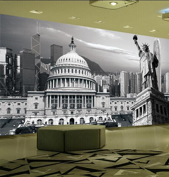 3D Casa Weiß Parete Murale Foto Carta da parati immagine sfondo muro stampa