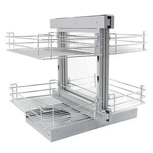 Magic Corner Kitchen Baskets Pull Left Hand Slide Out Wire Storage ...