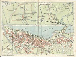Reggio Calabria Cartina Geografica.Dettagli Su Reggio Calabria Paestum Metaponto Mappa Touring Club 1928 Carta Geografica