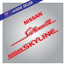 Nissan Skyline Silhouette R31 Decal Pack RED SILVER (3 Stickers) Car RB30 ADM