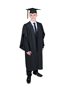 Graduation Gown Academic Robe And Mortarboard Cap Set Available