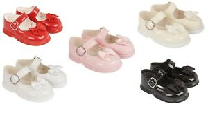 BAYPOD BABY GIRLS PATENT SHOES WITH BOW