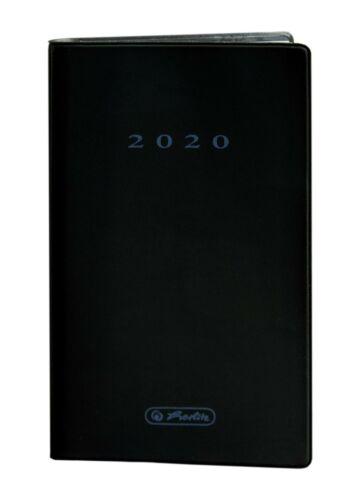 Taschenplaner Farbe schwarz Herlitz Taschenkalender 2020 9,5x16 cm