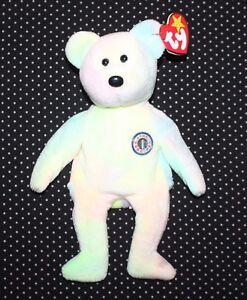 B.B Birthday Bear Ty Beanie Baby Beautiful Condition H5
