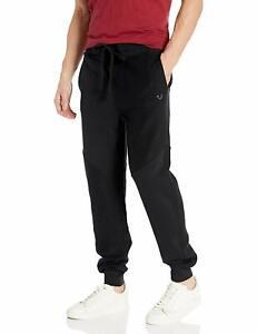 True-Religion-Men-039-s-Tonal-Panel-Jogger-Sweatpants-in-Black