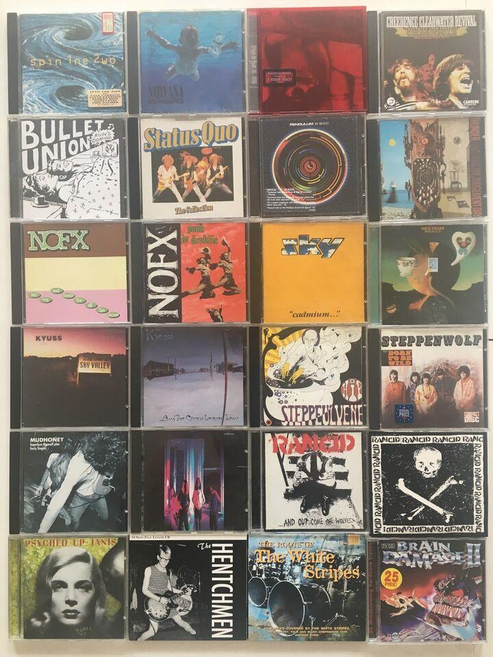 Div. kunstner: rock,pop,blues,pop,punk, andet
