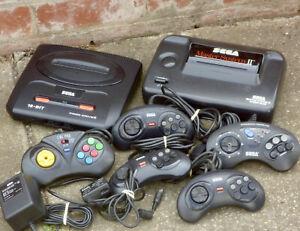 2x-Sega-Consoles-Master-System-2-Mega-Drive-Genesis-Game-Old-Vintage-Retro-Toy