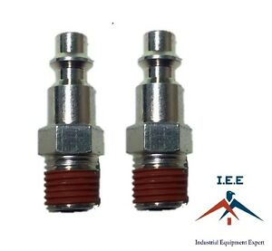 2-pc-1-4-034-Male-NPT-Air-Compressor-Hose-Quick-Coupler-Plug-Steel-New