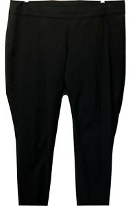 CJ-Banks-Black-Solid-Pull-On-Stretch-Bengaline-Career-Dress-Pants-Women-s-16W