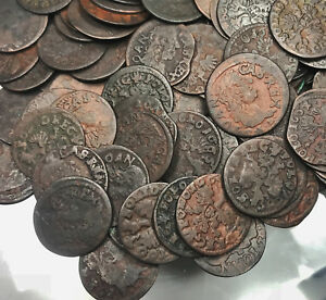 Poland-Solidus-Szelag-1660-1665-TLB-Copper-Coin-1Pc-From-Lot-Shown