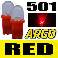 1 LED XENON RED 501 T10 W5W SIDELIGHT BULBS VOLVO C60