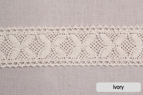 "1yds Broderie Anglaise cotton lace Crochet Trim 2/"" YH024 laceking2013 5cm"
