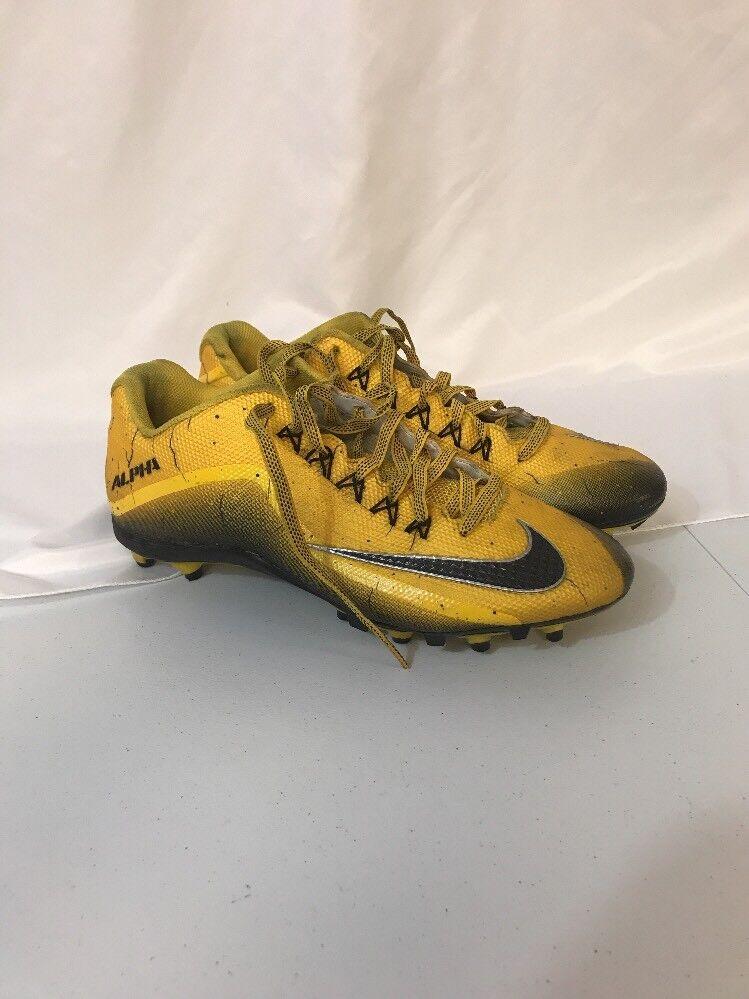 Men's Nike Alpha Pro 2 TD Football Cleats Varsity Yellow  719925 700 Size 12