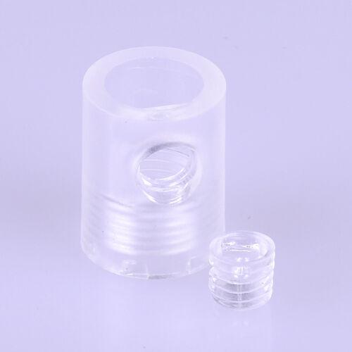 Kunststoff-Zugentlaster 13x18mm seitliche Madenschraube transparent M10x1 IG