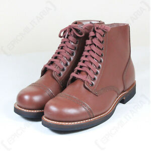 US Army WW2 Repro Leather 1939 SERVICE SHOES- All Sizes American Brown Low Boots | eBay