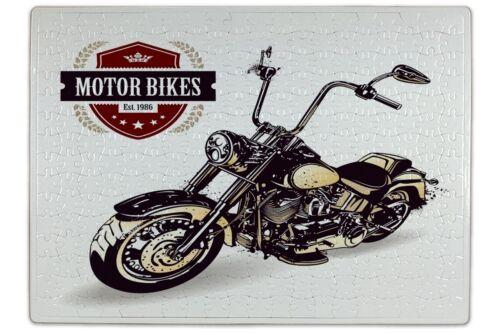 Puzzle Rétro Motards Moto Chopper imprimées 120 pièces