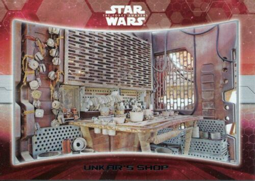 Star Wars Force Awakens S1 Locations Chase Card #2 Unkar/'s Shop