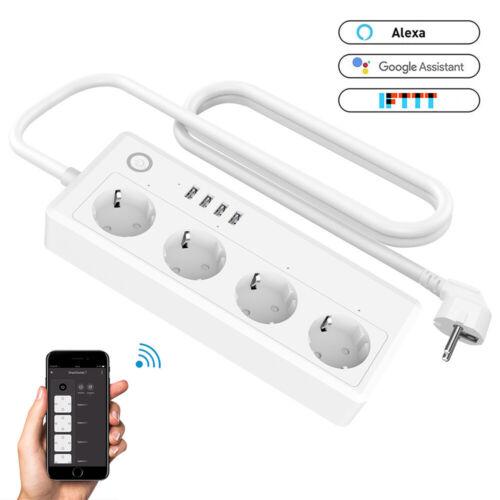 4 Fach Smart Steckdosenleiste 4X USB Fernsteuerung Intelligente WLAN Steckdosen
