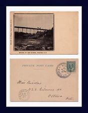 CANADA NOVA SCOTIA TWO RIVERS BRIDGE JOGGINS POSTED 1907 TO MISS NICHOLS, OTTAWA