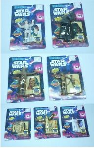 Lot of 7 1993 Star Wars BendEms Figures C-3PO R2-D2 Leia Vader Skywalker Chewy