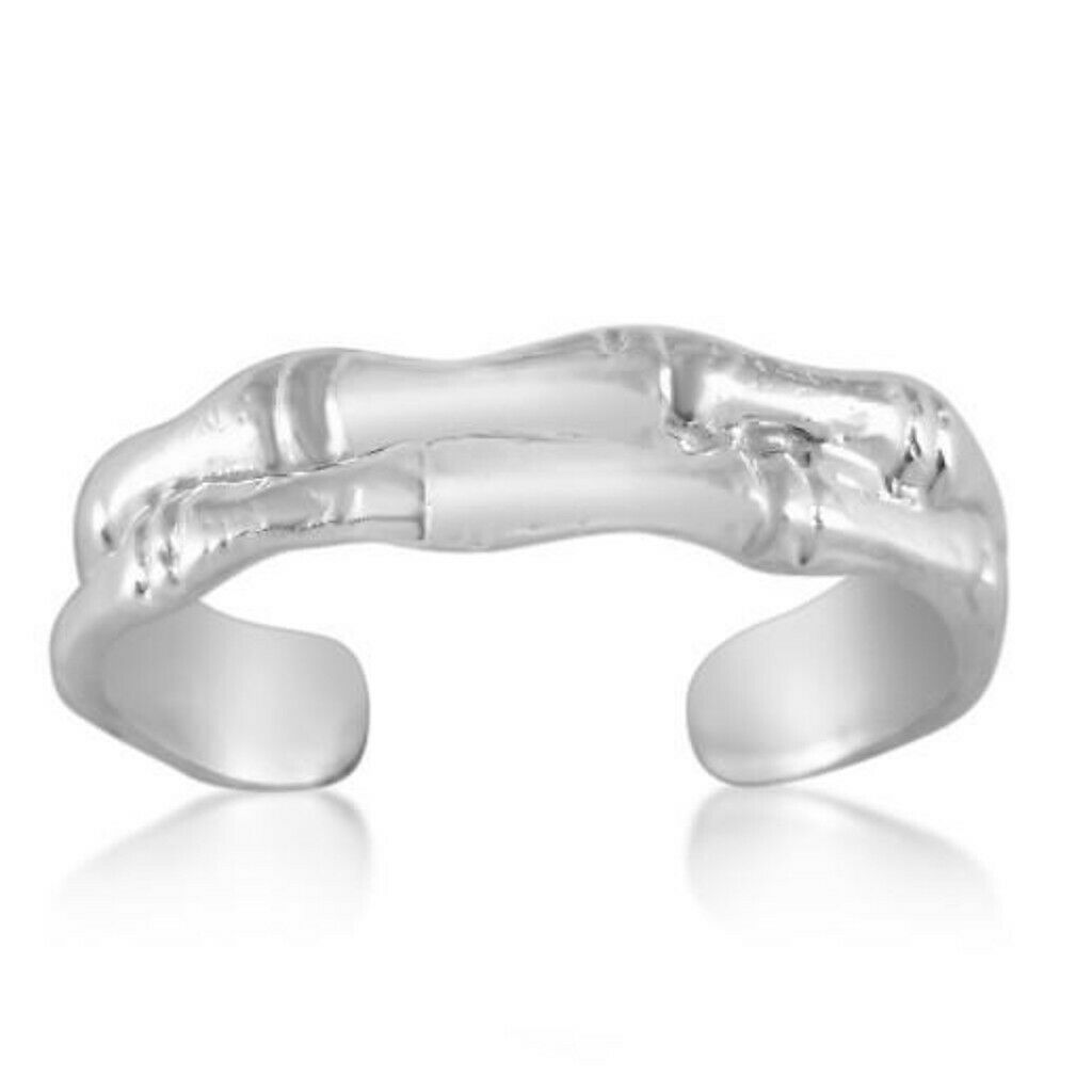 Beautiful /& High Quality Sterling Silver Rope Design Adjustable Toe Ring