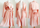 NEW Forever21 Dusty Pink Long Duster Drapey Open Front Light Trench Coat Jacket