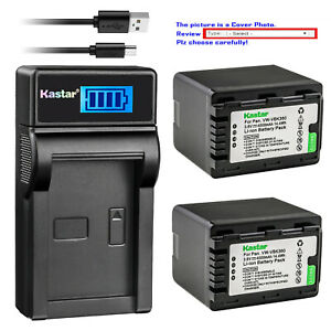 Kastar-Battery-LCD-USB-Charger-for-Panasonic-VW-VBK360-amp-HDC-SD90GK-HDC-SD60S