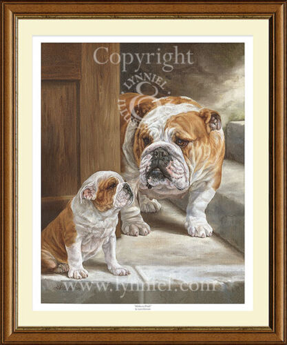 BRITISH BULLDOGS limited edition print /'Mother/'s Pride/'