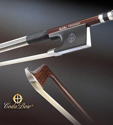 NEW! Coda Bow Violin Bow - Prodigy Model - Brown Carbon Fiber Weave