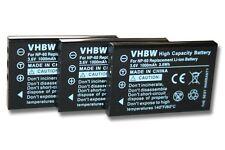3x BATTERIA per EasyPix DTX5500 DVX5050 DVX5530 FULLHD