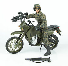 World Peacekeepers Action Figure Toy w/ Accessories & Kawasaki KLR650 Motorcycle