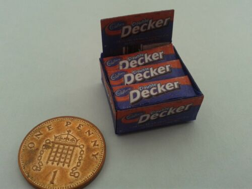 1//12 Scale-Caja De Doble Deckers Barras Dulces Para Dollshouse Miniatures