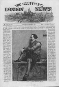1864-FINE-ART-Antique-Print-Train-Thought-John-Dawson-Watson-Winter-61