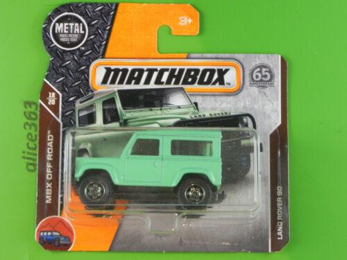 118-nuevo en caja original Matchbox 2018-Land Rover 90-MBX off-road